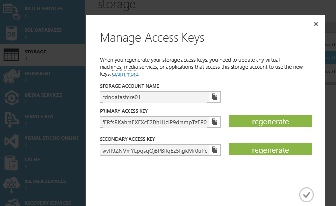 Accessing Azure Blob Storage with G2O Authentication